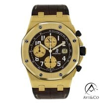 Audemars Piguet Royal Oak Offshore Gult guld 42mm Brun Arabertal