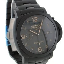 Panerai PAM00438 Ceramic Luminor 1950 3 Days GMT Automatic 44mm pre-owned United States of America, New York, Greenvale