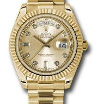 Rolex Day-Date II / President II  Champagne diamond dial