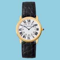 Cartier Ronde Solo De Cartier 36mm Gelbgold, Lederband -NEU-