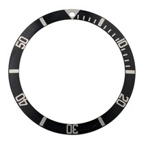 Rolex Black insert for plexi Submariner, fat font