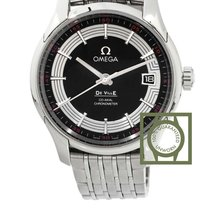 Omega De Ville Hour Vision 41mm Black Dial Steel NEW