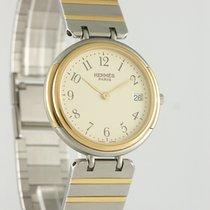 Hermès Χρυσός / Ατσάλι 30mm Χαλαζίας μεταχειρισμένο