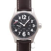 Hamilton Khaki Field Officer Steel 44.00mm Black