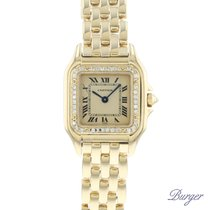 Cartier Panthère Yellow gold 21.5mm White Roman numerals