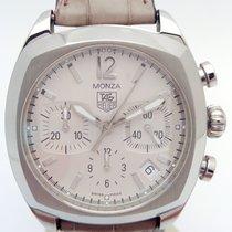 TAG Heuer Monza Steel 38mm White No numerals
