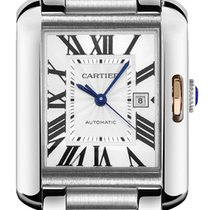 Cartier Tank Anglaise Steel 39.2mm Silver Roman numerals United States of America, California, Moorpark