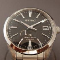 Seiko Grand Seiko Steel 41mm Black No numerals