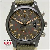 IWC Pilot Chronograph Top Gun Miramar pre-owned 46mm Green Chronograph Date Textile