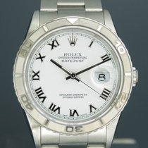 Rolex Datejust Turn-O-Graph 36mm Weiß Römisch