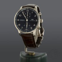IWC Portuguese Chronograph usados Gris Cronógrafo Piel