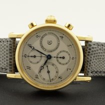 Chronoswiss Chronograph Chronometer Yellow Gold Silver Dial 18...