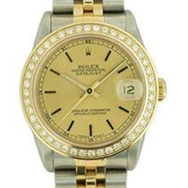 Rolex Medio Datejust Acc_oro Lunetta Diamanti art. Rm482