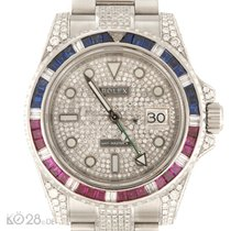 Rolex GMT Master II 116710 AFTERMARKET Diamonds  Sapphire Ruby