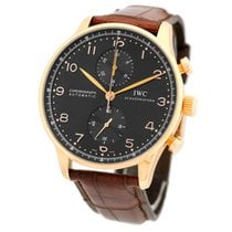 IWC 18K Rose Pink Gold Portuguese Chronograph Automatic IW3714...