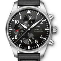 IWC Pilot Chronograph Acier 43mm Noir Arabes