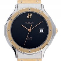 Hublot Classic MM Medium Stahl 18kt Gelbgold Quarz Armband...
