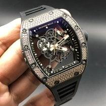 理查德•米勒 RM55 Bubba Watson 18k rose gold Diamonds carbon NTPT ...
