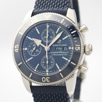 Breitling Superocean Héritage II Chronographe Stahl 44mm Blau