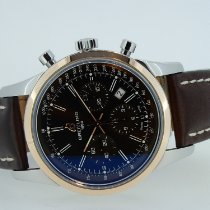 Breitling Transocean Chronograph gebraucht 43mm Braun Chronograph Datum Rindsleder