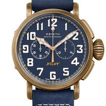 Zenith Bronze Automatic Blue Arabic numerals 45mm new Pilot Type 20 Extra Special