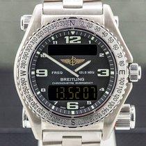 Breitling Emergency pre-owned 43mm Black Chronograph Alarm GMT Titanium