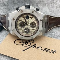Audemars Piguet Royal Oak Offshore Chronograph Staal 42mm Champagne Arabisch