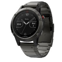 Garmin 47mm Garmin FENIX 5 SAPHIR Slate Grey Metallband 010-01688-21 new