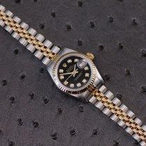 Rolex Lady-Datejust Goud/Staal 26mm Zwart Geen cijfers