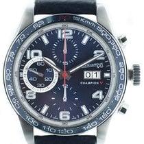 Eberhard & Co. Champion V Steel 42mm Blue Arabic numerals