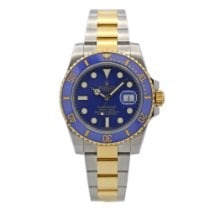 Rolex Ceramic Automatic Blue No numerals 40mm pre-owned Submariner Date