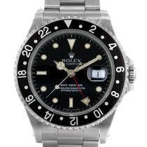 Rolex GMT-Master Сталь 40mm Чёрный Без цифр