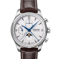 Union Glashütte Belisar Chronograph Steel 43mm White Arabic numerals