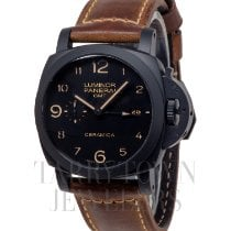 Panerai Luminor 1950 3 Days GMT Automatic Cerâmica 44mm Preto Árabes