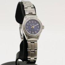 Rolex Oyster Precision Acero 24mm Azul Sin cifras