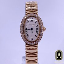 Cartier Baignoire Yellow gold Silver Roman numerals United States of America, California, Beverly Hills