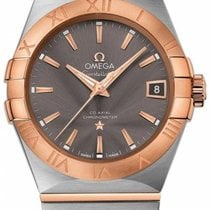Omega Constellation Men Or/Acier 38mm Gris