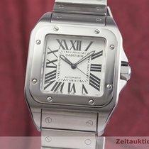 Cartier Santos 100 Steel 38mm Silver