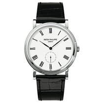 Patek Philippe Calatrava 31mm White Gold Watch on Leather Strap