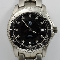 TAG Heuer Link Stainles Steel Diamond Dot Dial Wristwatch