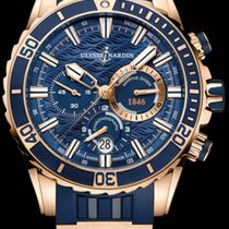 Ulysse Nardin Diver Chronograph 1502-151-3/93 Ulysse Nardin Cronografo Subacqueo Gomma Blu новые