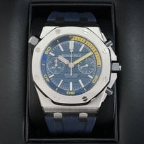 Audemars Piguet Steel Automatic Blue No numerals 42mm pre-owned Royal Oak Offshore Diver Chronograph