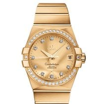 Omega Constellation Men Yellow gold 38mm Champagne United States of America, Florida, Miami