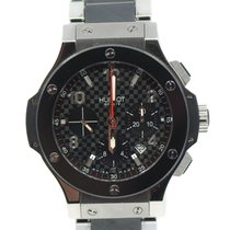 Hublot Steel Automatic Black 44mm pre-owned Big Bang 44 mm