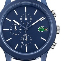 Lacoste Plastic Quartz Blue 44mm new
