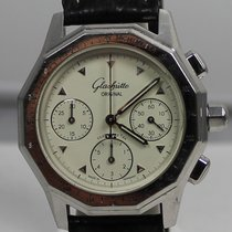 Glashütte Original Senator Chronograph pre-owned White Chronograph Leather