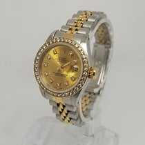 Rolex Lady-Datejust Champagne Diamond Dial 18K Gold B&P...