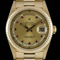 Rolex Day-Date Diamond & Ruby String Dial Gold