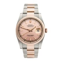 Rolex Datejust Stainless Steel & 18k Rose Gold Unisex...