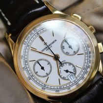 Vacheron Constantin chrono  35mm white dial gold case